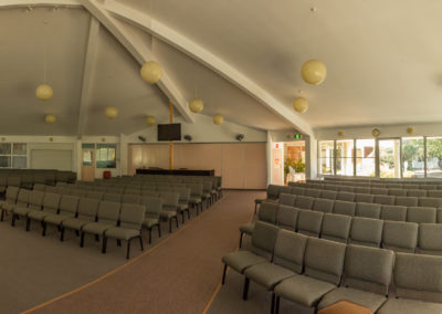 Church Auditorium westward